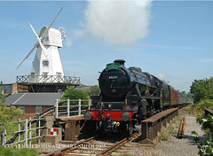 LMS 5MT No 45231 on a London Victoria to Eastbourne passing Rye Windmill 13th July 2005 (robinstewart.smith) Tags: lms 5mt rye windmill 2005