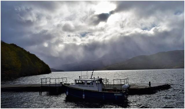 Wet day on Loch Lomond.