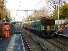 The Orange Army at Bloxwich (The Walsall Spotter) Tags: westmidlandsrailway class153dmu 153375 class170turbostar 170502 thechaseline thechaselineelectrification networkrail bloxwichrailwaystation