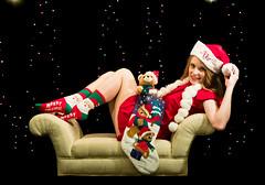 Santa's Little Helper (Laveen Photography (aka cyclist451)) Tags: christmasshoot laneschwartz laveenphotography leslie athlete edisonbulb female friend loverofpink lunaticlensstudio student douglaslsmith wwwlaveenphotographynet
