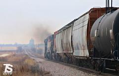 2/2 CN 2151 Leads WB L571 Manifest Williams, IA 12-21-18 (KansasScanner) Tags: iowafalls alden iowa williams cn bcol train railroad cic