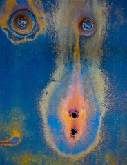 Monkey Business (StephenReed) Tags: monkeybusiness face metal rust paint chippedpaint abstract art abstractart weathered stephenreed