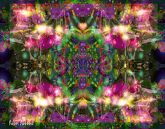 Mirrored (brillianthues) Tags: abstract mirror fractal colorful glow collage photography photmanuplation photoshop