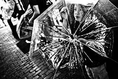 Shelter for the rain... (Victor Borst) Tags: street streetphotography streetlife reallife real asia asian asians faces face candid travel travelling trip traveling urban urbanroots urbanjungle blackandwhite bw mono monotone monochrome umbrella umbrellas rain raw rainy raining shibuyacrossing japan japanese girl woman lady female