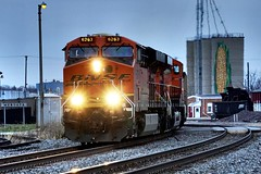 BNSF 6263 at Mendota, IL (Laurence's Pictures) Tags: bnsf burlington route cbq mendota illinois freight train rail railroad railway locomotive engine transportation