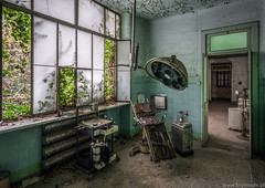 Abandoned hospital (trip_mode) Tags: decay urbex exploration exploring urban abandoned clinic hospital trip trespassing chair lamp