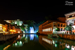 night (Tiziano Photography) Tags: isolaliri waterfall night frosinone water watercolor houses nikond750 d750 nikon landscape cascata acqua colori case lights luci