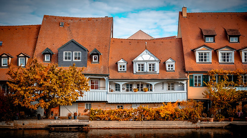 Autumn at the river Regnitz