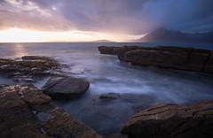 Elgol (Please visit www.markainsley.com) Tags: uk scotland light rocks isle skye cullins mountains sunset sea waves coast