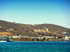 Antiparos Coast (dimaruss34) Tags: newyork brooklyn dmitriyfomenko image sky greece antiparos sea water mountains hillside buildings ferry roads windmill church coast