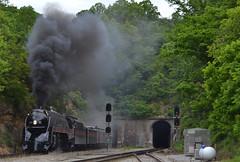 Eruption (Tristan_Miller) Tags: nw norfolk western j class 611 steam engine locomotive montgomery virginia