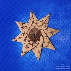 Pietro (AnkaAlex) Tags: origami origamiart origamistar modulorigami modular modul star paperfolding paper paperfoldingart carmensprung bluestar