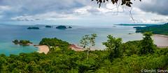 View of the bay of Isla Coiba (dudi_dudewitz) Tags: travel nikon water sea blue sky trees coiba island panama panorama boat beach bay landscape