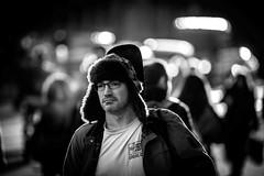 music is a destination (Gerrit-Jan Visser) Tags: bewerkt streetphotography amsterdam damrak musician guitar music blackandwhite cap winter streetportrait