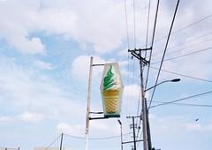 Soft Serve, Big Island, HI (nico.padayhag) Tags: film 35mm kodak portra 160 nikonfm2 hawaii color 24mm lens sign retro old ice cream snack drive bar soft serve big island hilo ks
