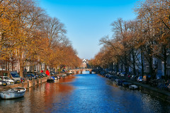 Canal Autumn (M. Nasr88) Tags: amsterdam autumn canal city cityscape d750 colorful digital europe fall naturallight nikon sky street thenetherlands travel trees urban amesterdam