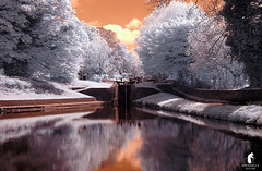 stourton (spennells pensioner) Tags: stourton kinver infrared winter frost canal water colours atmospheric towpath landscape waterscape