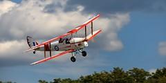 De Havilland Canada DH.82C Tiger Moth II, 1941, C-GMTH - Guelph Airpark, Ontario (edk7) Tags: nikond610 nikonafnikkor80200mmf4556d edk7 2016 canada ontario guelph guelphairport cnc4 guelphairpark aerodrome tigerboysaeroplaneworksflyingmuseum annualairday2016 dehavillandcanadadh82ctigermothii cndhc981 cgmth modifiedasdh82a primarytrainer biplane military aircraft plane airplane aviation passenger civilian civil private generalaviation opentandemcockpits worldwartwo wwii worldwar2 secondworldwar britishcommonwealthairtrainingplanbcatp dehavillandgipsymajoriiiaaircooledinvertedinlinefour145hp tree rural country cockpit propellor propeller wing cloud sky royalcanadianairforce rcaf 1941