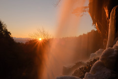Winter Waterfall with Sunset (chikuma_riv) Tags: japan nature landscape river lake mountain forest flower sunset sunrise spring summer autumn winter autumnleaves