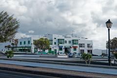 Playa Blanca, Lanzarote (wildhareuk) Tags: canaryislands canon canoneos400d lamppost lanzarote playablanca road building lanzarote2007 img2955dxo