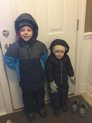 """Paul and Dani Get Ready to Go Out in the Snow • <a style=""""font-size:0.8em;"""" href=""""http://www.flickr.com/photos/109120354@N07/39967598243/"""" target=""""_blank"""">View on Flickr</a>"""