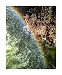 Rainbow, Water and Rocks (Anka on Flickr) Tags: naturephotocontest portfolio fotosquares britishcolumbiacanada capilanocanyon colors favorites landscape nature vancouverbc water fortune gallery hope rainbow rocks westvancouver britishcolumbia canada