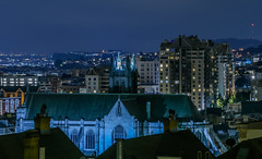 over st. dominic's catholic church (pbo31) Tags: bayarea california nikon d810 color night dark black city february 2019 boury pbo31 sanfrancisco urban church religion over pacificheights altaplaza skyline blue