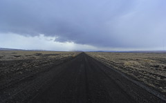 Road to Nowhere (Eye of Brice Retailleau) Tags: angle beauty composition landscape nature outdoor paysage perspective scenery scenic view extérieur wide cloud clouds cloudy cloudscape nuages backback backpacking travel traveling sunset sky skyscape outside outdoors roadtrip europe islande iceland ciel dirt road route panorama