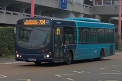 Long-haul: Arriva Harlow Volvo B7RLE/Wright Eclipse Urban GN07AVG (3820) Harlow Bus Station 16/11/18 (TheStanstedTrainspotter) Tags: arriva arrivakentthameside bus buses public transport publictransport harlow networkharlow volvo b7rle volvob7rle wrightbus eclipse urban wrighteclipse wrighteclipseurban gn07avg 724 greenline heathrow heathrowairport stalbans uxbridge welwyn welwyngardencity watford hertford max southend gillingham unbranded loan transfer borrowed