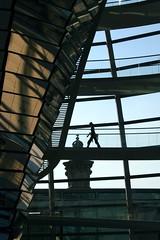 Berlin Walkway (Heaven`s Gate (John)) Tags: berlin walkway ramp architecture reichstag sunlight reflection pedestrian silhouette normanfoster dome modern glass steel 10faves