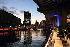 Osaka in the dusk (yukky89_yamashita) Tags: 大阪市 osaka dusk 堂島川 river bridge dojima