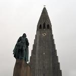 Leifur Eiríksson and Hallgrímskirkja (church of Hallgrímur) in Reykjavik, Iceland  -  (Selected for FLICKR EXPLORE) thumbnail