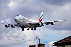 OO-THC  747-4HAF-ER-SCD Emirates SkyCargo  Heathrow 30-04-2016 (Antonio Doblado) Tags: oothc 747 b747 jumbo cargo boeing emirates asl heathrow aviación aviation aircraft airplane airliner