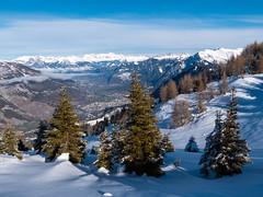 Winterwanderung (oonaolivia) Tags: feldis graubünden grisons schweiz switzerland landschaft landscape nature hiking walking snow schnee berge mountains
