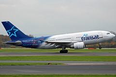 Air Transat Airbus A310 C-GTSW (Sam Pedley) Tags: cgtsw airbus a310 a313 airtransat man manchesterairport egcc ts293 ts tsc rvp ringway runwayvisitorpark vehicle aircraft airplane airliner jet jetliner civilaviation passengeraircraft