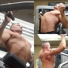 lat pulls (ddman_70) Tags: shirtless pecs abs muscle gym workout