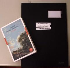 Zum Beschprache (wolfgraebel) Tags: ordner leitz buch book eichendorff desk office table typo besprechung