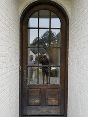 Stained Front Door, Crestline, Before. Exterior door stain Birmingham painters PaintDoctorMD