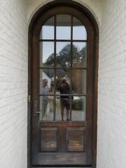 Stained Front Door, Crestline, Before. Exterior door stain Birmingham painters PaintDoctorMD