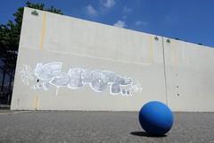 spot (Luna Park) Tags: ny nyc newyork brooklyn graffiti spot kms spotkms handball