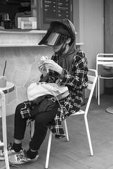 DSC00824_ep_gs (Eric.Parker) Tags: tokyo 2016 japan shimokitazawa visor bw