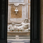 The antique statue of neptune at the Capitoline Museums in Rome thumbnail