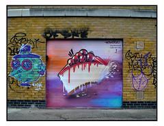 STREET ART by WOSKERSKI (StockCarPete) Tags: woskerski streetart londonstreetart urbanart graffiti shutters shutterart cheesecake cake food london uk
