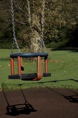 Ferguslie Gardens Autumn (91) (dddoc1965) Tags: dddocdavidcameronpaisleyphotographeroctober25th2018fergusliegardensparkpondswansripplesreflectionsbaloonwaterdewlittertrachplastictreeswoodsidecemeteryautumnhuescolours swingpark playground swings childrensplayarea
