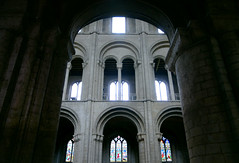 Nave elevation from side aisle, Ely Cathedral
