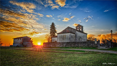Country church at sunset. (valpil58) Tags: sunset hdr lanscape church chiesa panorama tramonto