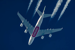 Emirates Airbus A380-861 A6-EDE (Thames Air) Tags: emirates airbus a380861 a6ede contrail telescope dobsonian contrails overhead vapour trail