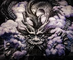 Qi Xinghua (MAKER Photography) Tags: qi xinghua graffiti magic city munich germany smartphone phone oneplus 3 art dragon black purple smoke
