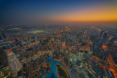 All Seeing (Mabmy) Tags: uae dubai burjkhalifa cityscape evening sunset city view buildings lights holiday vacation arab birdseyeview sony a7rii voigtlander 12mm photography mabmy