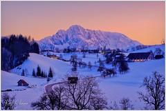 Abenddämmerung am Phyrn (Karl Glinsner) Tags: landschaft landscape österreich austria oberösterreich upperaustria outdoors berge mountains schnee abend evening abenddämmerung dusk phyrn oberweng